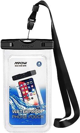 Mpow Pochette Téléphone Étanche Certifiée IPX8, Housse Téléphone Protection Universelle jusqu'à 6.5'' Sac Protection pour iPhone X/XR/XS/XS MAX/8/7/6/6s/Galaxy S10/S9/S8/S7/S7edge/Mate 20/P30/P20/P10