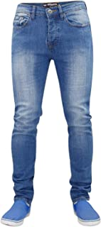 Seven Series Mens Skinny Jeans Denim Pants Stretch Trousers Buttoned 5 Pockets All Waist & Leg Sizes