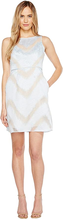 Adrianna Papell Illusion Neck Lace Dress 6pm