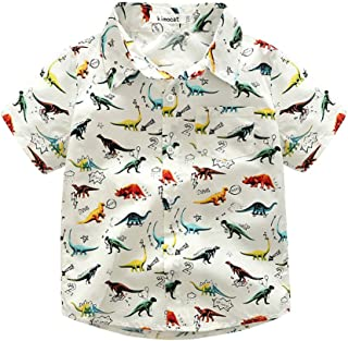 Topgrowth Camicia Bambino Stampa di Dinosauri Tops Cartone Animato Ragazzo Ragazza Maglietta a Maniche Corte 3-7 Anni