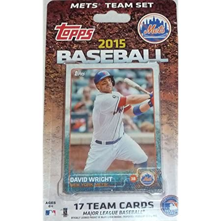 New York Mets 2015 Topps Factory Sealed Special Edition 17 Card Team Set with David Wright and First Year Jacob deGrom Plus