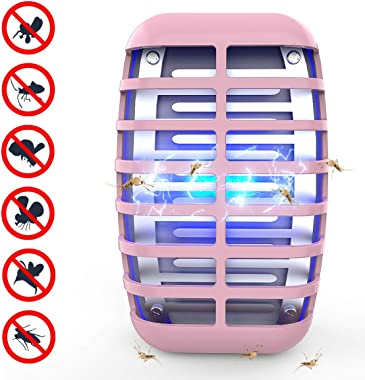 Greatico Bug Zapper - Mosquito Killer lamp Insect Trap -No Radiation-Mosquito Trap Insect Trap,Light for Indoor Bedroom, Kitchen, Office, Home (Pink)