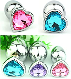 10Pcs/Lot Heart Shape Stainless Steel Butt Âna④l Plug (Large+Medium+Small) Obeancn-XmlEIzp For Women