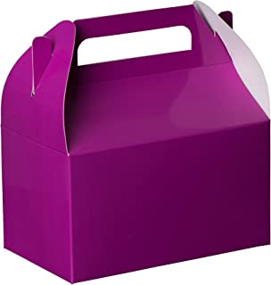 Party Favors Paper Treat Boxes - Purple Colored Paper Containers & Boxes Treat Container Cookie Boxes Cute Designs Perfect for Parties and Celebrations 6.25