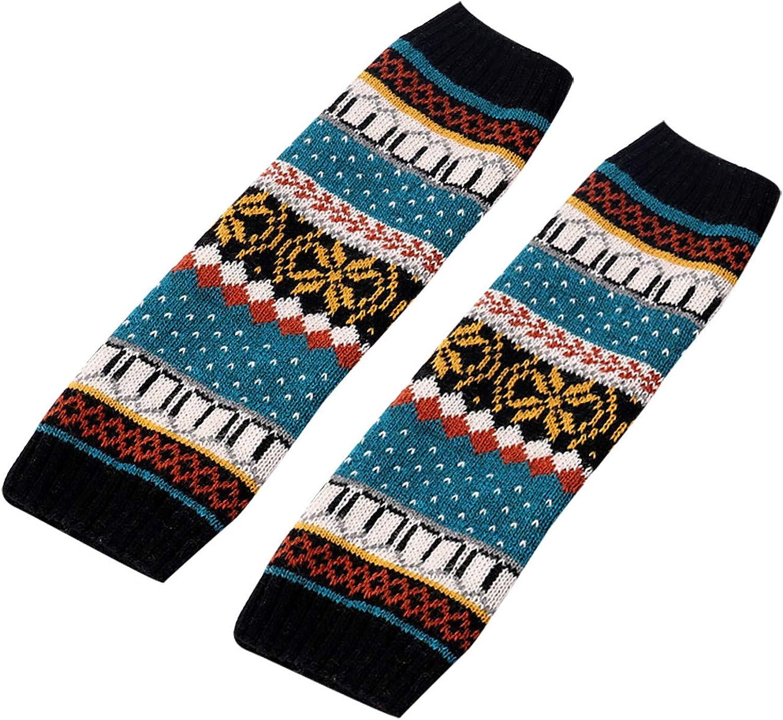 FIN86 Cotton Slim Fit Breathable Ankle Socks,Winter Women Keep Print Socks Knitting Warm Anklets Leggings Leg Warmers Socks