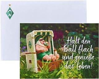 SV Werder Bremen Glückwunschkarte Strandkorb