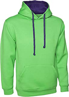 Ladies Loose Fit Plain Hoodie Size UK 10 to 30 Plus Unisex Hooded Sweatshirt