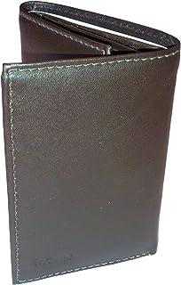 Kozmic Leather Middle ID Flap Tri Fold Wallet (Black)