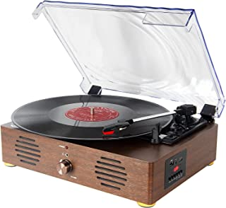 Record Player Vinyl Recording Turntable - LCD Display 13 in 1 Bluetooth Phonograph LP Player with Professional Speakers US...