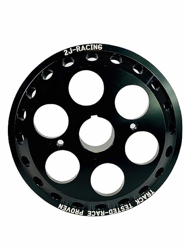 2J-Racing Nissan Sentra Lightweight Racing Crankshaft Pulley 2.5L, QR25DE, Fits Sentra, Altima, Frontier (Black)