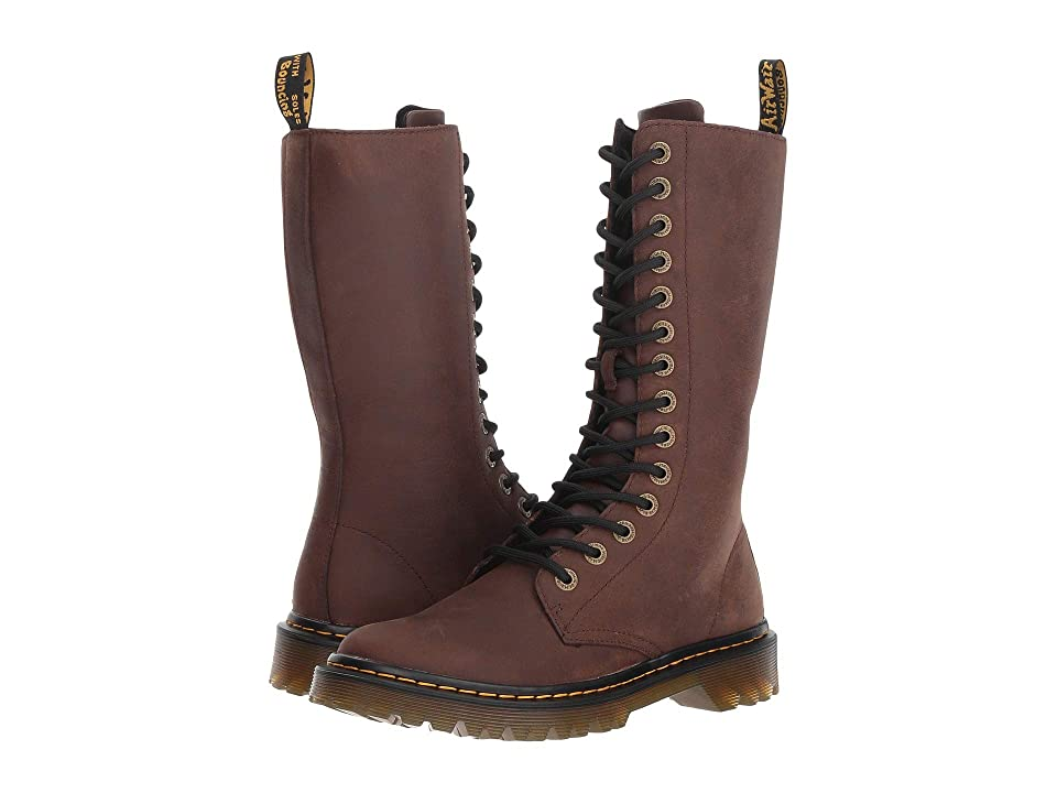 Dr. Martens Luana Tall (Dark Brown Garland) Women