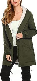 Women's Winter Warm Coat Hooded Parkas Overcoat Fleece Outwear Jacket with Drawstring