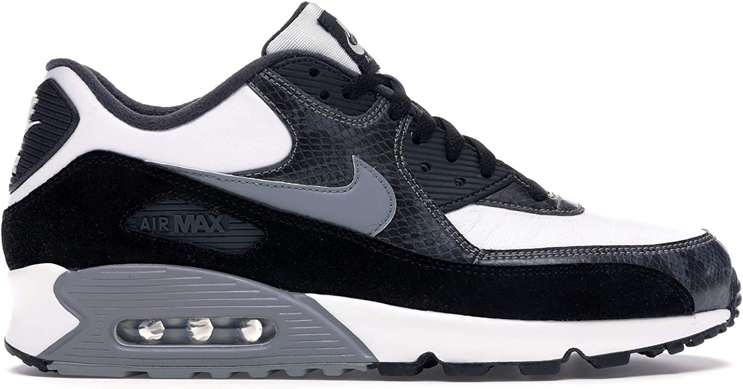 Nike Mens Air Max 90 QS Python White/Particle Grey-Anthracite Leather