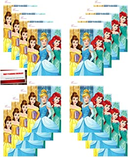 Princess Dream Big Disney (16 Pack) Party Plastic Loot Treat Candy Favor Bags Princess Aurora, Cinderella, Belle (Plus Party Planning Checklist by Mikes Super Store)