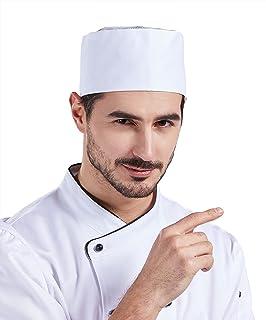 Nanxson 2Pcs Unisex Chef Skull Cap Adjustable Breathable Chef Beanie Restaurant Kitchen Mesh Top Chef Hat CF9022