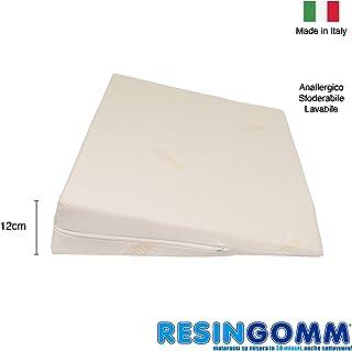Resingomm - Cojín de cuña alza pies, descansa los pies alzándolos en la cama. Extraíble y lavable. Alta densidad, indeformable.