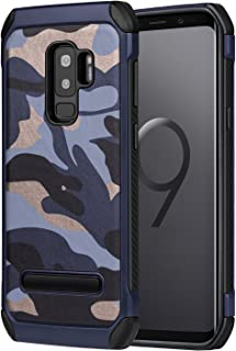 AYCFIYING Welmax Compatible Galaxy S9 Plus Case Shockproof Defender Air Cushion Armor Heavy Duty Protective Case with Hard PC Back Cover Soft TPU Dual Layer Cover Compatible Galaxy S9 Plus Blue