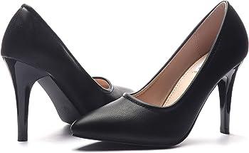 Cinak High Heels Classic Pointed Toe Slip-on