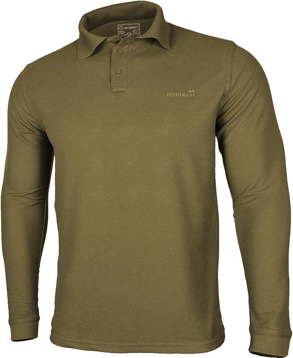Pentagon Men's Polo Popular Recommendation 2.0 Shirt Long Coyote