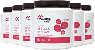 Mountain Falls Regular Dip-It Nail Polish Remover for Natural Nails, with Vitamin E and Panthenol, 9 Fluid Ounce (Pack of 6)