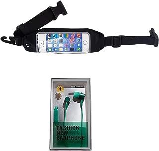 Sport Running Workout Jogging Fanny Pack Pocket Belt Adjustable Waist Bag for Mobile Phone with Bonus Headphones