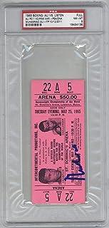 Muhammad Ali Signed Autographed Original 1965 Vs Liston Ticket NM 8 - PSA/DNA Certified