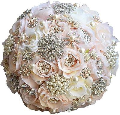 Amazon Com Seller Wu Pearls Wedding Bouquets Ivory Stunning
