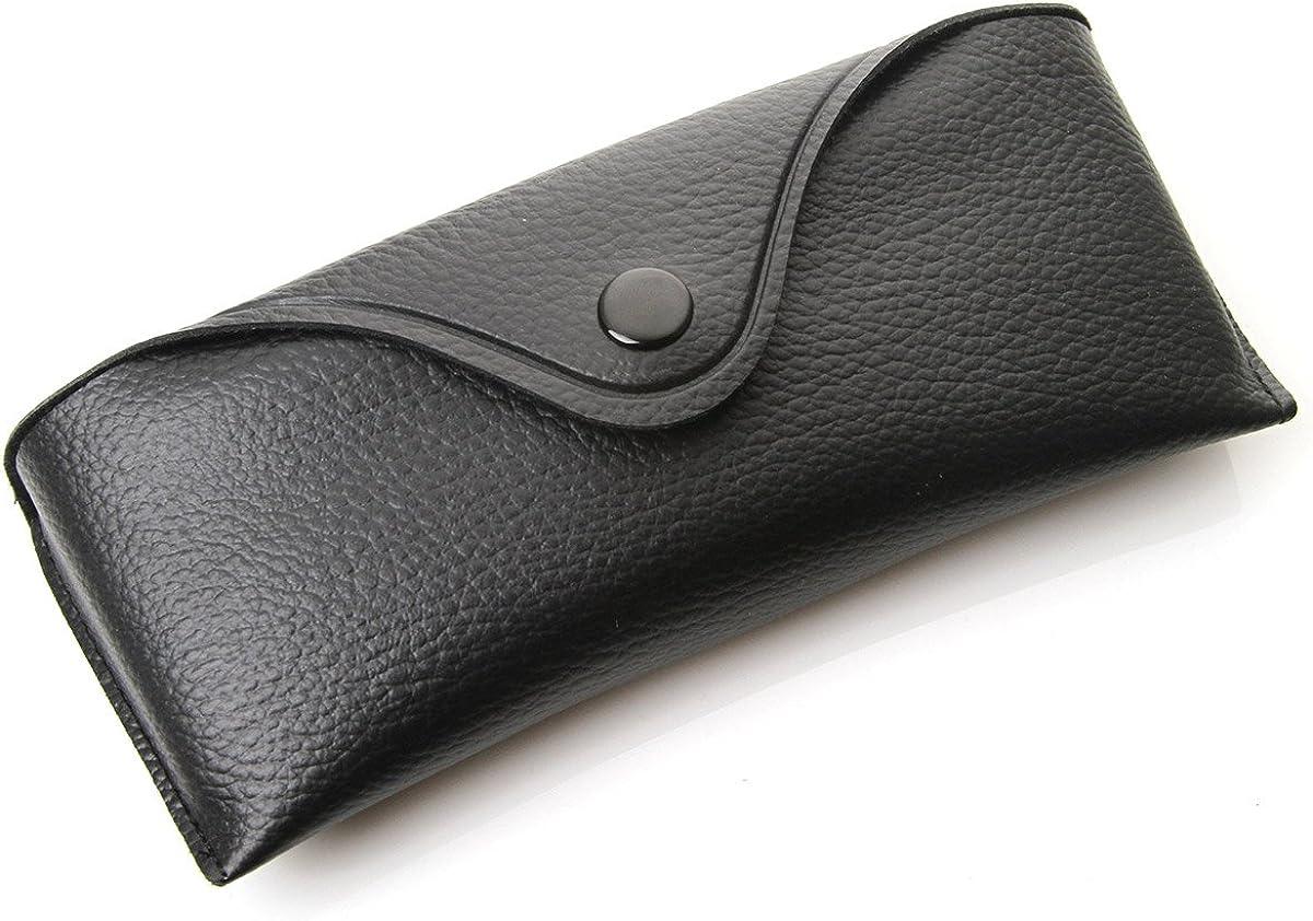 Retro Vinyl Protective Hard Sunglass Eyewear Case w/Snap Closure