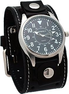 [ネメシス] Nemesis 腕時計 Men's Black Collection Dial Presition Display Watch 日本製クォーツ STH095K メンズ [バンド調節工具&高級セーム革セット]【並行輸入品】