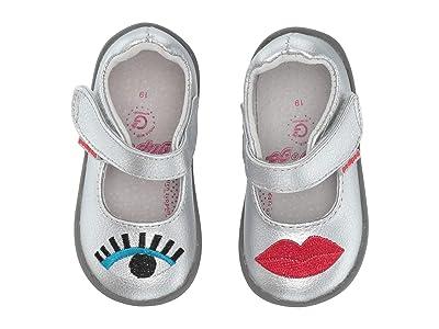 pediped Babe Grip n Go (Toddler) (Silver) Girl