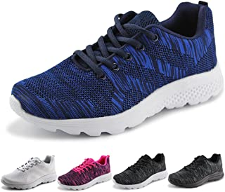 Women's Breathable Knit Sports Running Shoes Casual Walking Sneaker