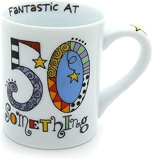 "Our Name is Mud ""Fantastic 50 Something"" Cuppa Doodle Porcelain Mug, 16 oz."