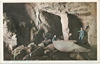 Historic Pictoric Postcard Print - Caves of La Jolla, San Diego, Calif, 1908 - Vintage Fine Art