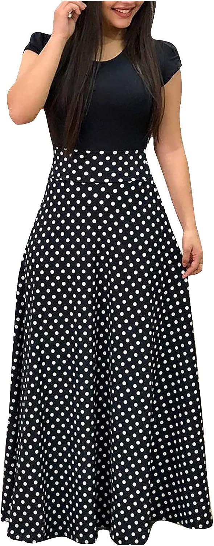 PEGONE Women's Slim Tube Top Printed One-line Neck Off Shoulder Loose Sleeveless Shoulderless Printed Dress