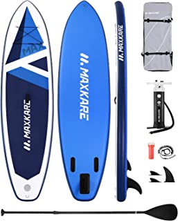 MaxKare 10.6' Stand Up Paddle Board Inflatable SUP 10.6' x 32''x 6'' with Premium Paddleboard & Triple Action Speed Pump &...