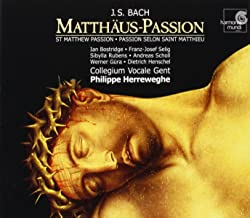 st matthew passion english recording