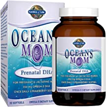 Garden of Life Ultra Pure EPA/DHA Omega 3 Fish Oil - Oceans 3 Oceans Mom Dietary Supplement with Antioxidants, 30 Softgels