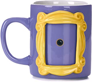 Paladone PP6548FR Friends Ceramic Picture Frame Mug with Monica's Yellow Peephole 330ml, 330 milliliters