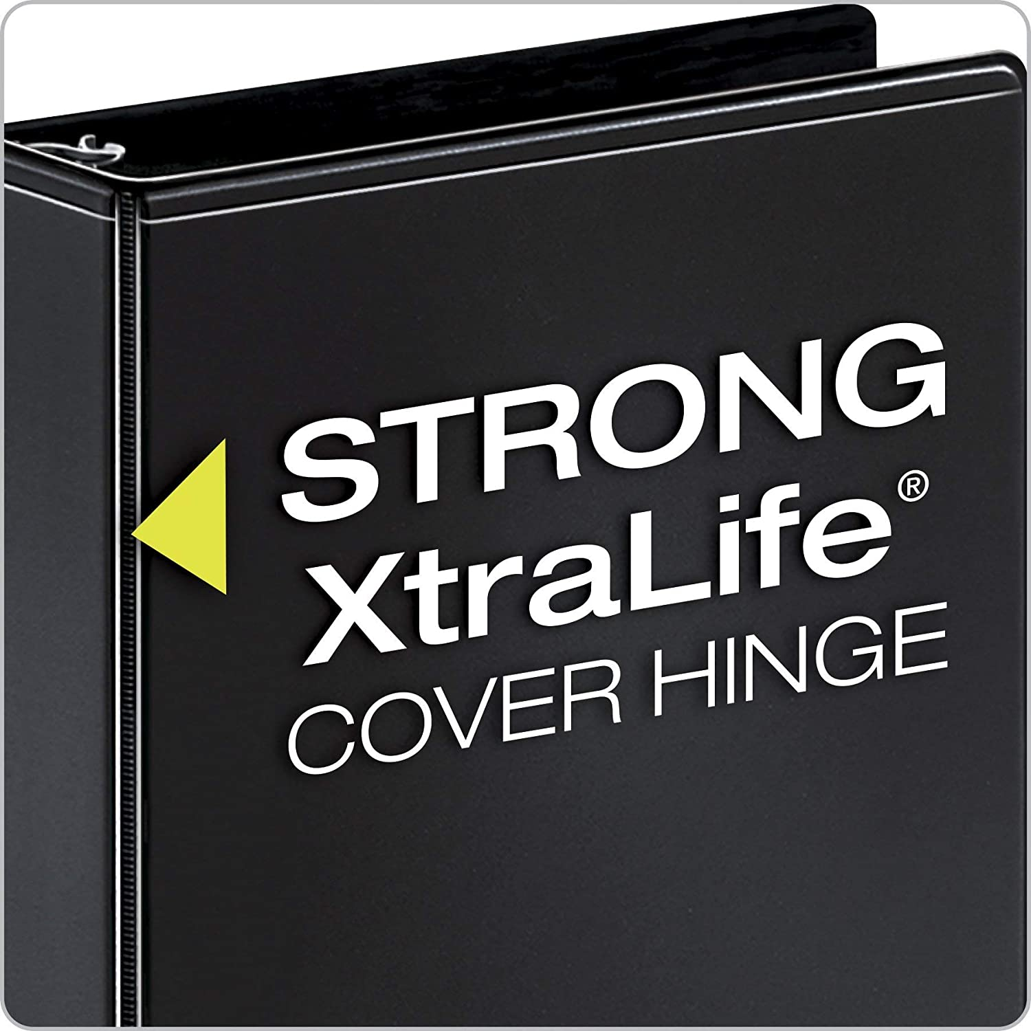 PVC-Free ClearVue Presentation Binder Non-Locking Slant-D Rings Renewed 17601 3 Nonstick 725-Sheet Capacity Black Cardinal Performer 3-Ring Binder