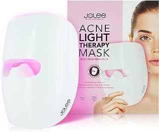 JoLee Máscara de Terapia Ligera Contra el Acne, Dermatológicamente Probada, Reduce el Acné, las Manchas y las Arrugas, Resultados Visibles en 30 Días, Rejuvenecimiento de la Piel. Máscara Antiacné