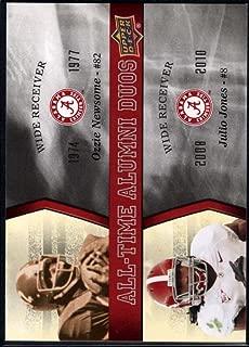 Football NFL 2012 Upper Deck University of Alabama All Time Alumni Duos #ATADNJ Julio Jones/Ozzie Ne