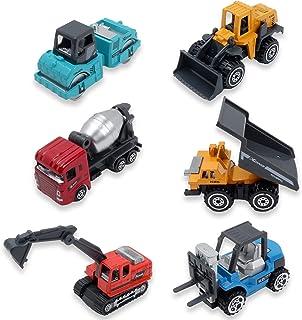 Nash 建設 車両 6 セット はたらく車 工事 現場 ミニカー 砂場 おもちゃ 作業車 模型 (フルカラー)