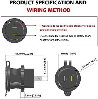 marine cigarette lighter schematic wiring diagram explore hardwire usb ports for car amazon com  explore hardwire usb ports for car