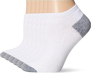 Fruit of the Loom Women's 6 Pack No Show Socks, 10-12 Sock/8-12 Shoe
