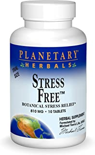 Planetary Herbals Stress Free Calm Formula Tablets, 10 Count