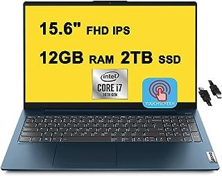 2021 Flagship Lenovo IdeaPad 5 Business 15 ノートパソコン 15.6インチ FHD IPS タッチスクリーン 第11世代 Intel 4-Core i7-1165G7 12GB RAM 2TB SSD ...