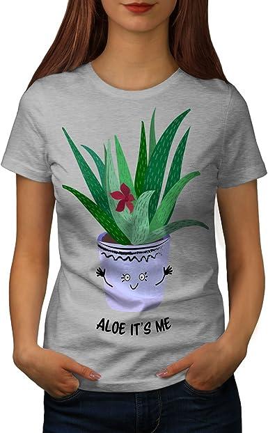 wellcoda Aloe Hallo Mich Frau T-Shirt Süß Lässiges Design