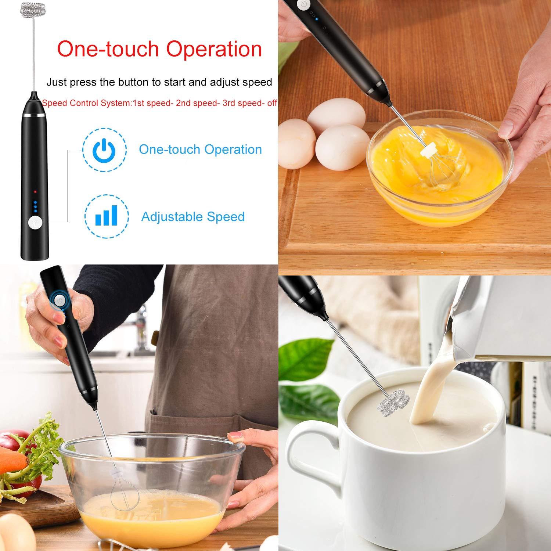 crema latte Espumador de leche el/éctrico Tailiqi para caf/é macchiato o huevos capuchino
