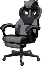 Mahmayi C457 High Back Black & Grey Video Gaming Chair with PU Leatherette