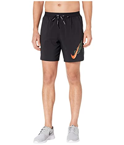 Nike 7 Air Flash Flex Stride Shorts (Black/Bright Crimson) Men